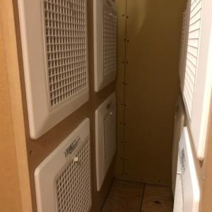 機械室内のフィルターの汚れ♪・・・スマートブリーズワン(全館空調)の家