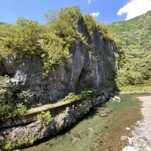 鏡川大穴峡で川遊び シュノーケリングで沢山のアユやあまごに会える 高知市