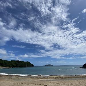 内妻海岸 海水浴場でサーフィン ボディボード 徳島県牟岐町