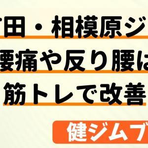 【町田・相模原ジム】腰痛や反り腰は筋トレで改善【評判】
