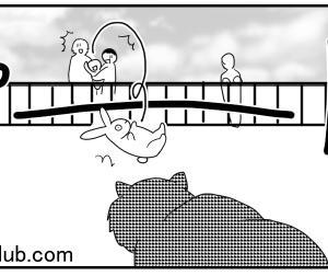 動物園に行こう、くま編3【国際結婚×パパ三人×子育て漫画】