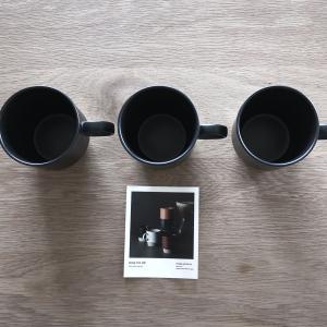 カインズのマグカップたち。スタッキングできる優秀マグ。
