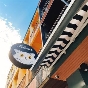 猫の看板が目印のカフェ【Cafe Felecius】ターペー門近辺
