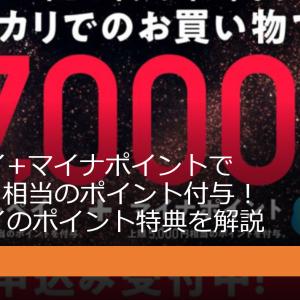 メルペイ+マイナポイントで7,000円相当のポイント付与!メルペイのポイント特典を解説