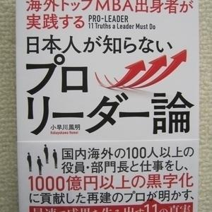 もしも自分の会社が突然、外国企業に買収されたら…「日本人が知らないプロリーダー論」小早川鳳明の書評・要約・感想