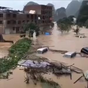 〇中国 広州から広西にかけて大水害発生