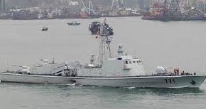尖閣周辺海域に中国海軍のミサイル艇が展開