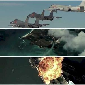 中国が爆撃機でグァム攻撃など 米国への攻撃模擬動画