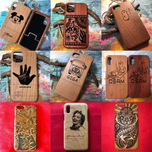 オーダーメイド イラストやロゴの写真を送るだけで木製iPhoneケースにデザイン彫刻し