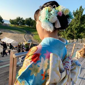 成人式の髪飾りをオーダーしてくれた花育っ子♬晴れ姿を見せに来てくれました