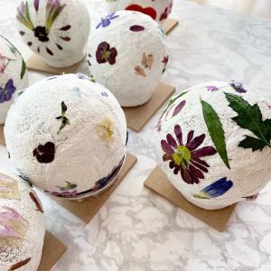 8月の花育は押し花でランプシェード作り!手加減なしのレッスンが子どもの底力を引き上げ♬