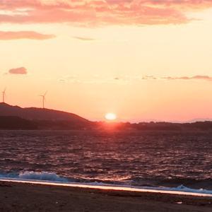 慶野松原の夕陽(兵庫県南あわじ市)
