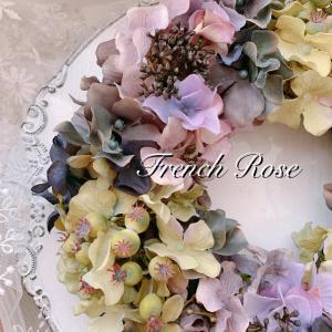 紫陽花のリース♪