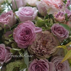 5種類のバラのブーケ&今日のパール