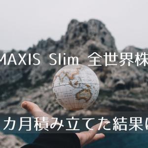 eMAXIS Slim 全世界株式(オール・カントリー)に4カ月積立投資してみた結果