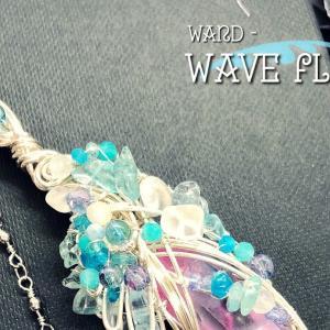 【Wand-Wave flower-波の花】☆コーティングクリスタル☆杖☆ワイヤーワンド