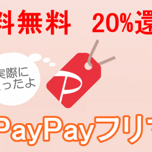 paypayフリマ、送料無料、20%還元の詳細と実際使ってみた感想!