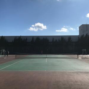 予定外にテニスやってみた