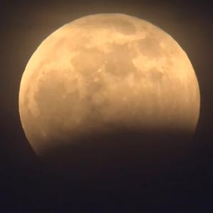 皆既月食、ちょっと見えたけど…!