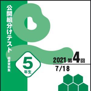 【最終結果】四谷大塚 YT組分けテスト 小5 7月