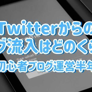 Twitterからのブログ流入はどのくらい?初心者ブログ運営半年