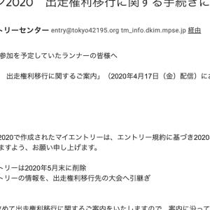 東京マラソンのエントリー権利移行が後ろ倒し