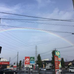 宇都宮不動産 大きな虹を朝一発見。