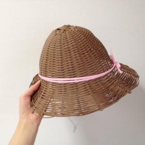 クラフトバンドで麦わら帽子作ってみた