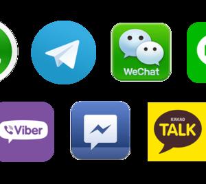 メッセージアプリ 世界シェア ランキング