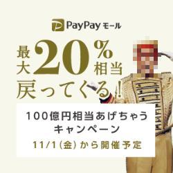 【複雑】PayPayモールで3か月にわたって最大26%相当(?)還元の複合キャンペーン開催