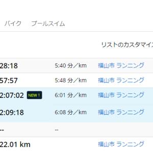 ハーフのタイム更新と矢掛本陣マラソンコース