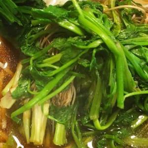 セリの季節がやってきた!銀座 泰明庵でセリかしわ蕎麦