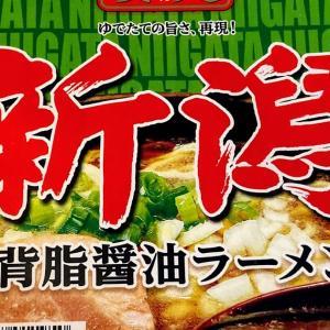 おうちごはん お昼はニュータッチの凄麺 新潟背脂醤油ラーメン