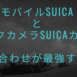 【キャッシュレス】モバイルSuicaとビックカメラSuicaカードの組み合わせが最強すぎる