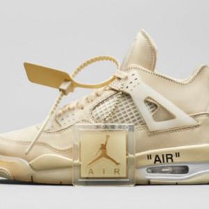 "【2020年7月25日(土) 発売予定】Off-White™ × Nike Wmns Air Jordan 4 Retro SP ""Sail"""