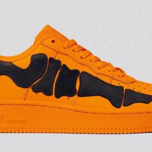 """【2020年10月 発売予定】Nike Air Force 1 '07 Skeleton """"Brilliant Orange"""""""