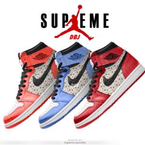 【2021年夏 発売予定】Supreme × Nike Air Jordan 1 High 全3色