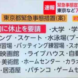 【緊急事態宣言】東京都「ホームセンター、モールにも休業要請。コンビニ、ホテル、銭湯、飲食店(居酒屋除く)は生活に必須」