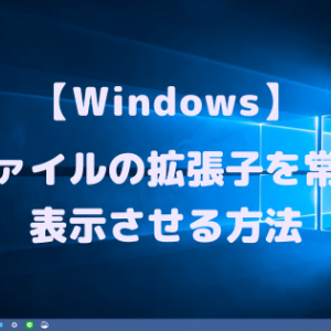 【Windows】ファイルの拡張子を常時表示させる方法【ウイルス対策】