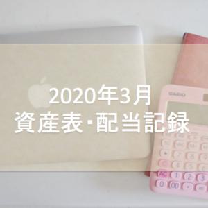 2020年3月 資産表&配当記録