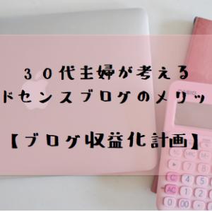 30代主婦が考えるアドセンスブログのメリット【ブログ収益化計画】