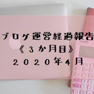 ブログ運営の経過報告〈3ヶ月目〉2020年4月