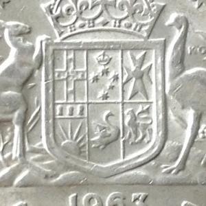 オーストラリア エリザベス2世 1フローリン銀貨 1963年
