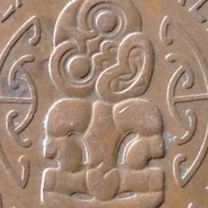 ニュージーランド エリザベス2世 ハーフペニー銅貨 1954年