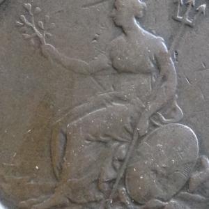 英国 ジョージ3世 2ペンス銅貨 1797年