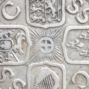 英国 ジョージ1世 1シリング銀貨 1723年