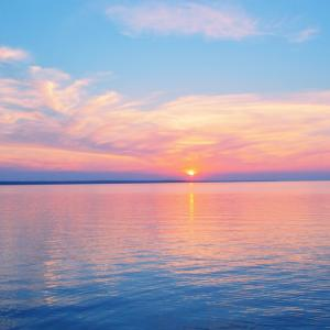 アゼルバイジャンの綺麗な冬の夕焼け!