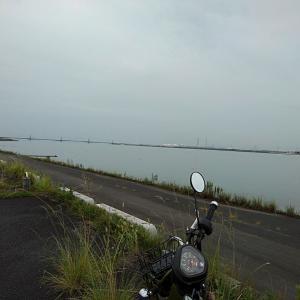 味噌ラーツーin木曽川沿い