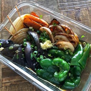 米油で作る簡単で美味しい夏野菜の焼きびたし