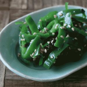 無限に食べれる!ピーマンの塩昆布ナムルの副菜レシピ